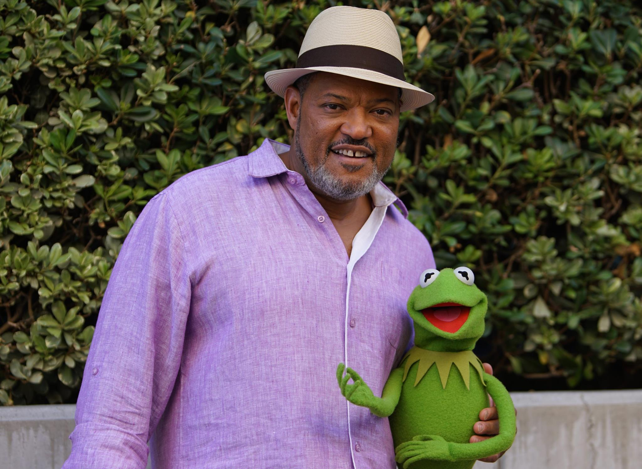 "Laurence Fishburne in ""The Muppets"""